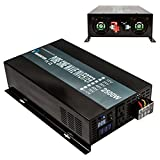 Reliable 2500W High Compact Pure Sine Wave Inverter Dc to Ac Power Converter For Home Solar Power System (Black Iron)