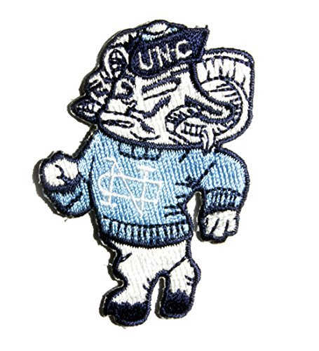 UNC Tar Heels Patch NCAA North Carolina University Mascot Vintage College Embroidered Iron On (Unc Tar Heel Tickets compare prices)