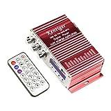 【CityWalk】 2チャンネル mini 12Vステレオ 2*20W パワーデジタルアンプ USB SD FM MP3+リモート HY-502R