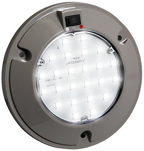 """Maxxima (M84434RW) Red/White 6"""" Interior Dual Color LED Dome Light with Three Position Rocker Switch"""