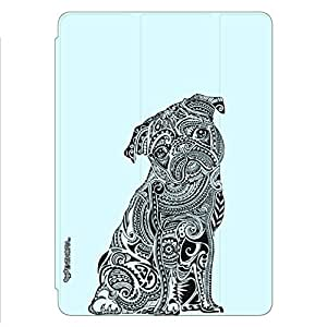 Enthopia Designer Front Smart Cover Dog Tattoo 2 Back Cover for Ipad Air with Transparent Back Case