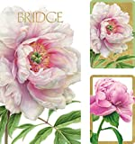 Caspari Entertaining with Peonies Bridge Gift Set (2-Score Pads)