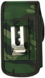 Reiko Rugged Pouch Motorola Droid X MB810 Plus Army Camouflage with Poly Bag - Retail Packaging - Army Green