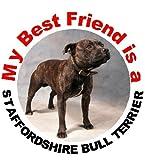 2 Staffordshire Bull Terrier/Staffie Car Stickers My Best Friend No. 1