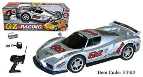 """17"""" Ferrari Enzo Four Wheel Drive Racing Car Silver"""