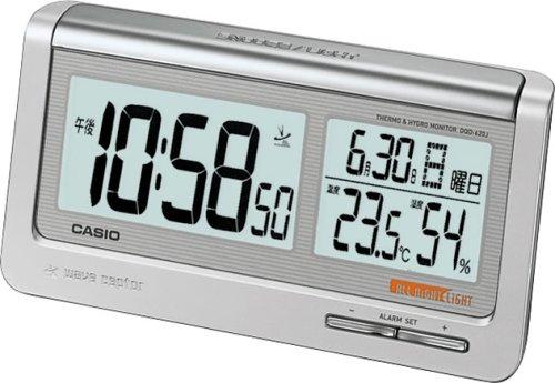 CASIO (カシオ) 目覚し時計 WAVE CEPTOR ウェーブセプター デジタル 電波時計 (福島・九州両局対応) カレンダー表示 温度表示 湿度表示 DQD-620J-8JF
