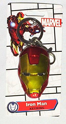 MARVEL(マーベル)IRON MAN HEAD(アイアンマン)COLOR PEWTER KEYRING(キーホルダー)【並行輸入品】