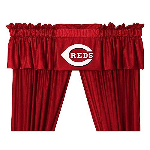 MLB Cincinnati Reds Valance, 88 x 14, Bright Red