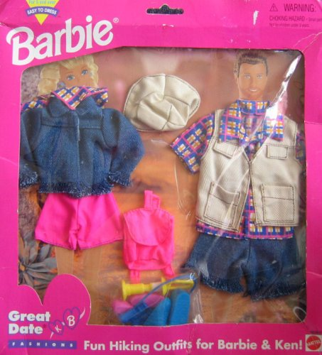 Barbie Great Date Hiking Outfits Fashions for Barbie & Ken! - Easy to Dress (1995 Arcotoys, Mattel)
