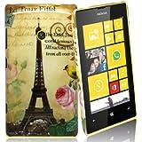 Accessory Master Coque rigide pour Nokia Lumia 520 Motif Tour Eiffel avec Fleurs
