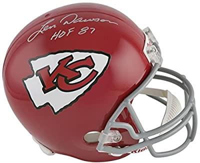"Len Dawson Kansas City Chiefs Autographed Riddell Throwback Replica Helmet with ""HOF 87"" Inscription - Fanatics Authentic Certified"