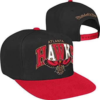 Atlanta Hawks Mitchell & Ness Hardwood Classics Arch With Logo Tri-Pop Snapback... by Mitchell & Ness