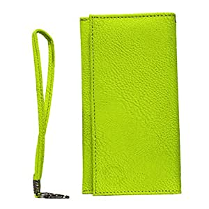 Jo Jo A5 G8 Leather Wallet Universal Pouch Cover Case For Gionee Ctrl V5 Parrot Green