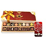 Chocholik Belgium Chocolates - 8 Milk And 8 White Attractive Chocolate Box With 3d Mobile Cover For IPhone 6 -...