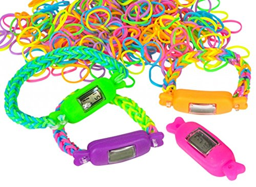 DIY Coil Connection Loom Band Watch (4 per order - colors may vary) - 1