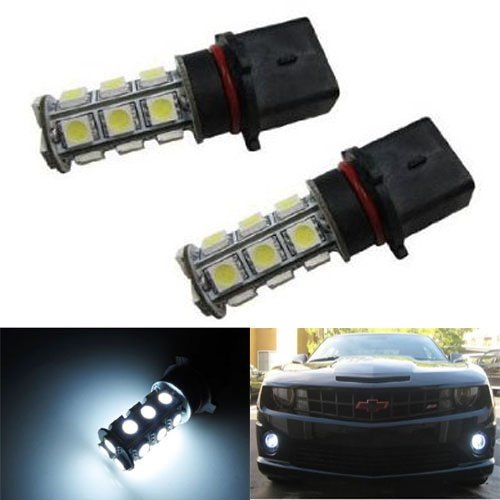 Ijdmtoy 18-Smd P13W Led Fog Lights/Drl Replacement Bulbs, Xenon White