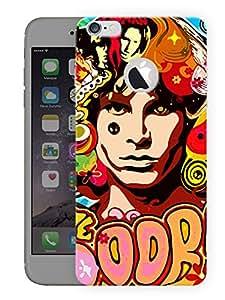 "Humor Gang Jimi Hendrix - The DoorsPrinted Designer Mobile Back Cover For ""Apple Iphone 6 - 6S (Logo Cut)"" (3D, Matte, Premium Quality Snap On Case)..."