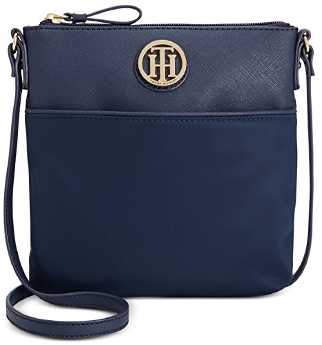 Tommy Hilfiger Womens Nylon Crossbody Navy Blue