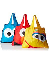 Envirosax Sesame Street Pouch Reusable Shopping Bags (Set Of 3), Multicolor