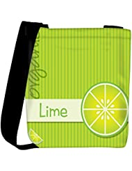 Snoogg Bright Organic Lime Card In Vector Format Womens Carry Around Cross Body Tote Handbag Sling Bags