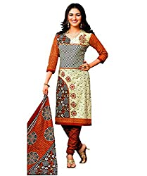 Laado Women's Cotton Printed Unstitched Salwar Suit Dress Material(Freesize)