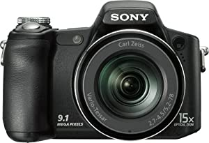 Sony Cyber-shot DSCH50 9.1 MP Digital Camera with 15x Optical Zoom with Super Steady Shot