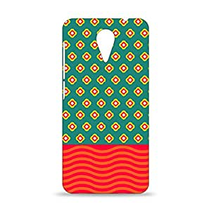 ezyPRNT HTC Desire 620G Mobile Back Case Cover with Beautiful Premium Flower and Waves Pattern