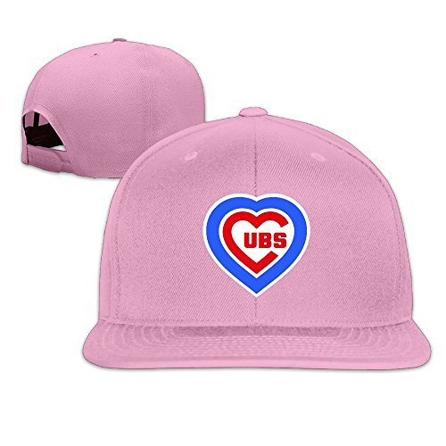 LINNA Custom Unisex Chicago City With Love Baseball Logo Snapback Baseball Cap Hat Pink (Cubs Tickets compare prices)