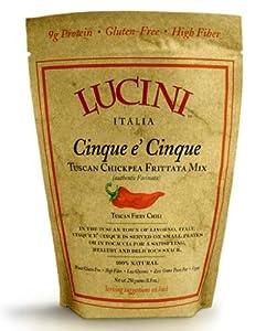 Lucini Italia Tuscan Fiery Chili Cinque E Cinque 250-gram Pouches Pack Of 4 by Lucini Italia
