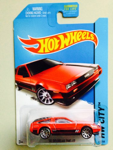 Hot Wheels HW City - 33/250 - Red '81 Delorean DMC-12