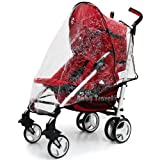 Chicco Liteway Rain Cover Stroller Throw Over Raincover Fits Obaby Atlas, Tippitoes Strollers, Maclaren Quest Triumph, Chicco London, Chicco Liteway, Chicco Snappy, Zeta, Graco Nimbly