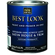 - HW41W0950-14 Best Look Latex Satin Paint And Primer In One House And Trim Paint