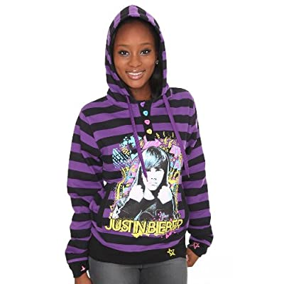 Black and purple striped hoodie