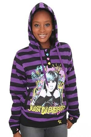 Amazon.com: Justin Bieber Black And Purple Stripe Girls ... - photo #15