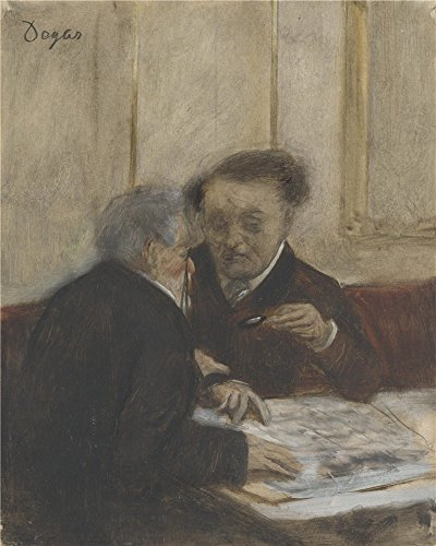 The Perfect Effect Canvas Of Oil Painting 'Hilaire Germain Edgar Degas At The Caf Choteaudun ' ,size: 18 X 23 Inch / 46 X 57 Cm ,this Beautiful Art Decorative Canvas Prints Is Fit For Gym Decoration And Home Decor And Gifts