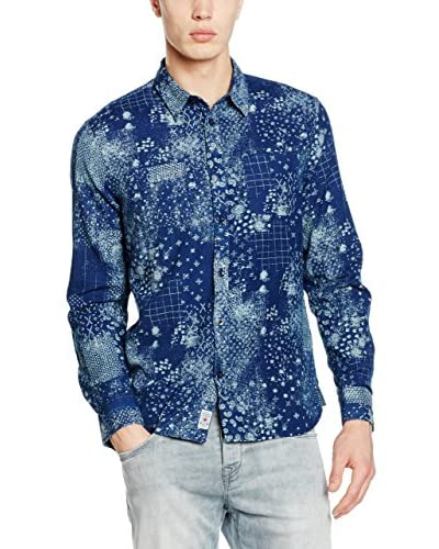 Pepe Jeans London Camicia Uomo Blue Regular Fit [Blu Scuro]