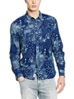 Pepe Jeans London Camisa Hombre Blue Regular Fit (Azul Oscuro)