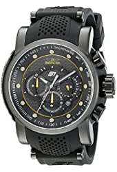 Invicta Men's 19324SYB S1 Rally Analog Display Quartz Black Watch