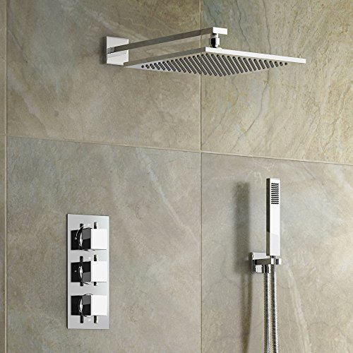 Concealed Chrome Bathroom Thermostatic Mixer Shower Set with Handheld SB2041