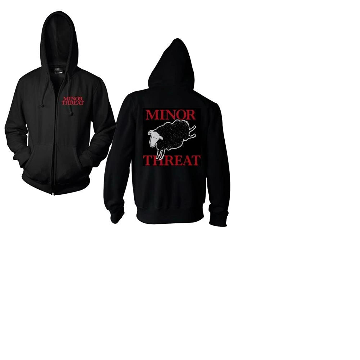 Minor Threat - Black Sheep Double Sided Hoodie Sweatshirt