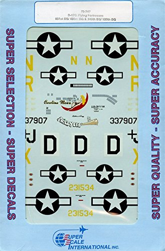 Super Scale Decals 1:72 B-17G Flying Fortresses 851st BS/490th BG 349th #72-747*