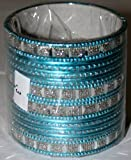 Set of 24 Indian bangles - 7 cm diameter (Light Blue)