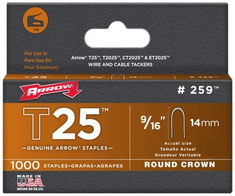Arrow Staples Rnd Crwn 1/4