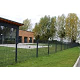 Angebot Preis für komplette 50m Zaun 1230mm Höhe RAL7016-anthrazit Doppelstabmattenzaun, Gartenzaun, Metallzaun...