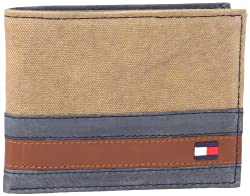 Tommy Hilfiger Mens Exeter Passcase Billfold, Khaki, One Size