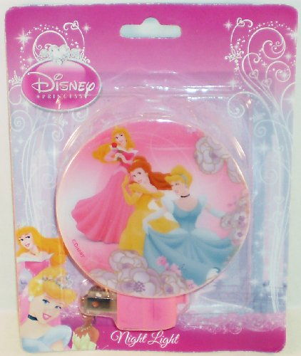 Disney Princess Sleeping Beauty, Belle, & Cinderella Pink Night Light front-192346