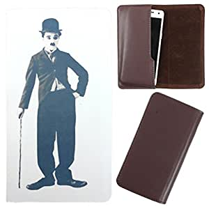 DooDa - For Lava Xolo A500L PU Leather Designer Fashionable Fancy Case Cover Pouch With Smooth Inner Velvet