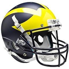 MICHIGAN WOLVERINES Schutt AiR XP Full-Size REPLICA Football Helmet (MATTE NAVY BLUE) by ON-FIELD