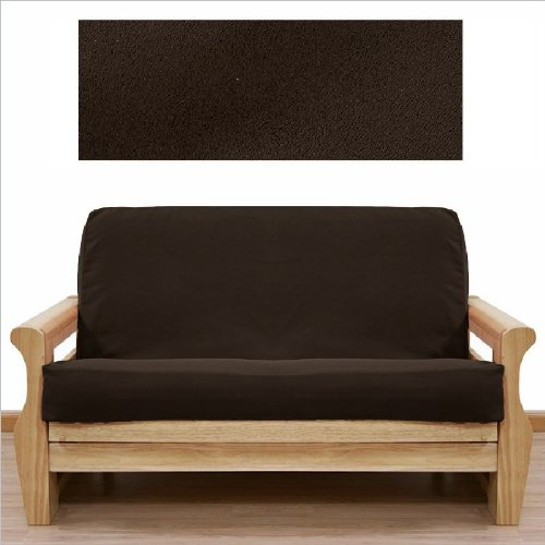 Soft Micro Suede Solid Mocha Brown Full or Double Size Futon Cover Slipcover
