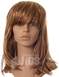 Stunning Light brown wig with blonde highlights and fringe